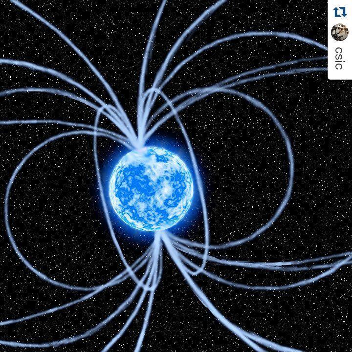 #Repost @csic En 2013, los astrónomos descubrieron una #estrella de #neutrones con un enorme y poderoso campo magnético junto al agujero negro supermasivo que está en el centro de la Vía Láctea. Ahora, un equipo de investigadores ha descubierto que esta estrella se enfría mucho más despacio que otros astros similares. #astronomía #estrellas #físicanuclear #neutrón #espacio #investigación #follow #csic