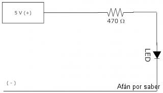 131 watermark 320x240 circuito practico encender led Paso 3. Circuitos LED