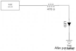 132 watermark 320x240 circuito practico encender led2 Paso 3. Circuitos LED