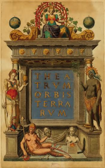 frontispicio theatrum Ilustrar la ciencia es un arte