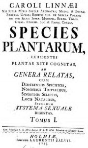 Species plantarum 179x300 CARL LINNAEUS (y II)