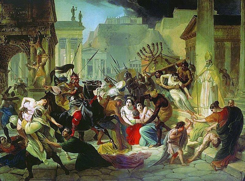 Genserico saquea Roma en el 455 La caída o decadencia del Imperio romano (II)