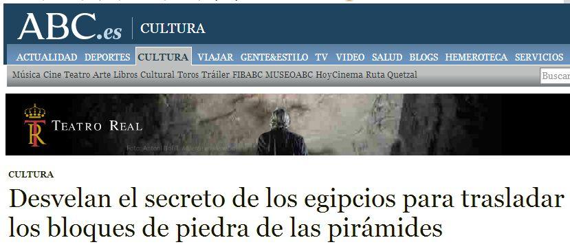 ABC A vueltas con los titulares tendenciosos: la construcción de las pirámides egipcias