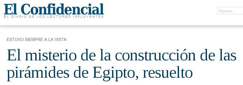 El Confidencial A vueltas con los titulares tendenciosos: la construcción de las pirámides egipcias