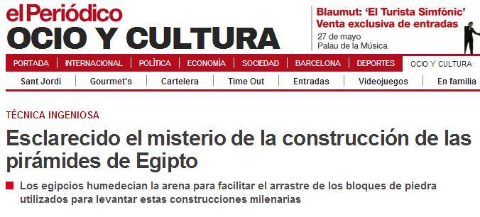 El periodico A vueltas con los titulares tendenciosos: la construcción de las pirámides egipcias
